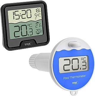 TFA-Dostmann Marbella Thermomètre de Piscine sans Fil Anthracite