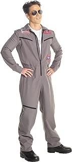 Morph Mens Military Pilot Costume Professional Flightsuit Adults Jumpsuit Outfit - Large