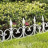 Bordature da giardino, modulabili, 8 pezzi, lunghezza totale 4,08m...