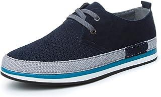 [QIFENGDIANZI] 靴 メンズ ドライビングシューズ カジュアルシューズ ローファー スリッポン モカシン デッキシューズ ビジネスシューズ お洒落 身長アップ 軽量 通気性 アウトドア ローカット 通勤 通学 グレー カーキ ブルー