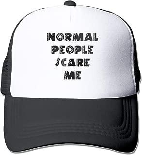 Normal People Scare Me 3 Mesh Baseball Caps Unisex Style Hats Black