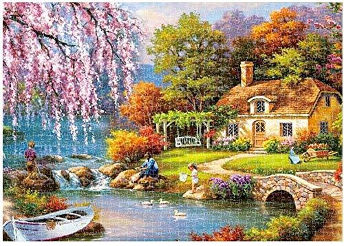 1000 Piece Grote puzzel for volwassenen, Kunst Schilderij Over Country Landschap, Kinderen Educatief speelgoed for Jongens Meisjes (Color : A)
