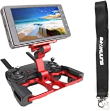 Anbee Foldable Aluminum Tablet Stand Cell Phone Holder with Lanyard Support Crystal Sky Monitor Compatible with DJI Mavic 2 / Mavic Pro/Mini/Mavic Air/Spark Drone Remote Controller, Red
