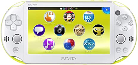 Sony Playstation Vita Wi-Fi 2000 Series with AC Adapter and Silicon Joystick Covers (Renewed) (Crystal White/Matte Lime Gr...
