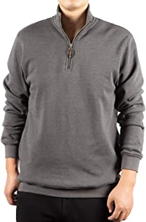 Men's Quarter Zip Fleece Jackets Crosswind Sweatshirts with Cadet Collar and Pockets