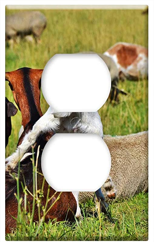 Switch Plate Outlet Cover Goat Prima Donna Geiss Little Kids Pasture Meadow 16