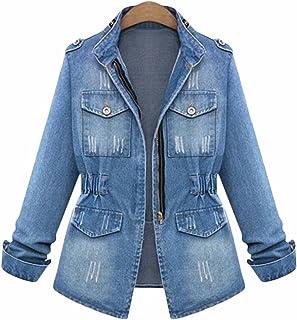 57e2f231143d0 SUSIELADY Women Casual Denim Jacket Jeans Tops Half Sleeve Trucker Coat  Outerwear Girls Fashion Slim Outercoat