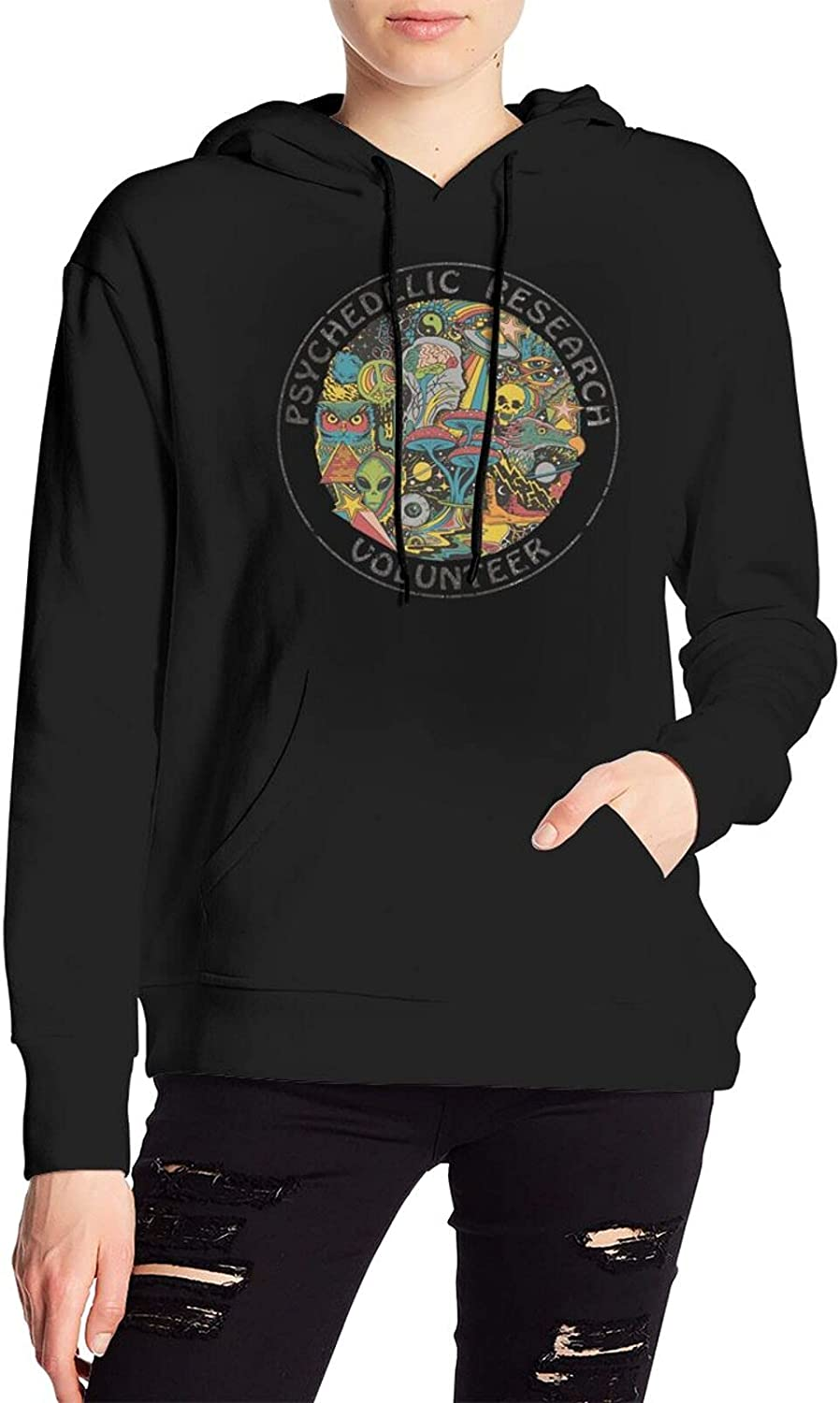 Psychedelic Research Volunteer Big Sweater Casual Pullover With Pocket For Men Women'S