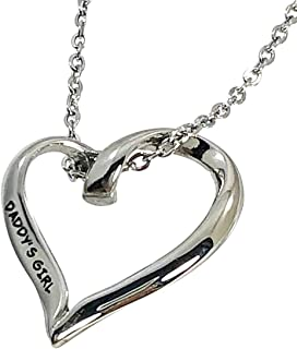 Daddy's Girl Keepsake Charm Necklace Stainless Steel, 3/4