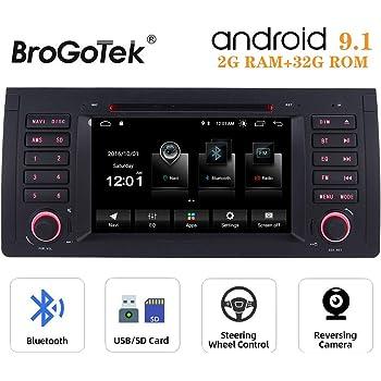 WiFi CARPLAY Navigation GPS Bluetooth,USB /Écran Tactile 7 E53 X5 Android 9.0 G/ÜM/Ü-PX5PROAZ02-Autoradio Compatible avec BMW Serie 3 E39