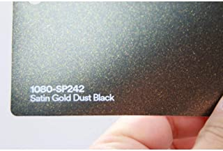 3M 1080 Satin Gold Dust Black   SP242   Vinyl CAR WRAP Film (Sample 2.5in x 4in)