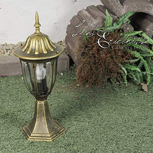 *Sockelleuchte außen wetterfest E27 rustikal H:43cm MILANO Laterne Wegeleuchte Garten Terrasse Hof*