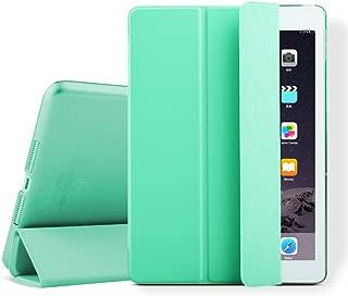 iPad mini Case, iPad mini 2 Cover, Supstar Slim-Fit Folio with Auto Wake/Sleep Smart Stand Magnetic PU Leather Hard Case for Apple iPad mini 1/2/3 - Mint Green