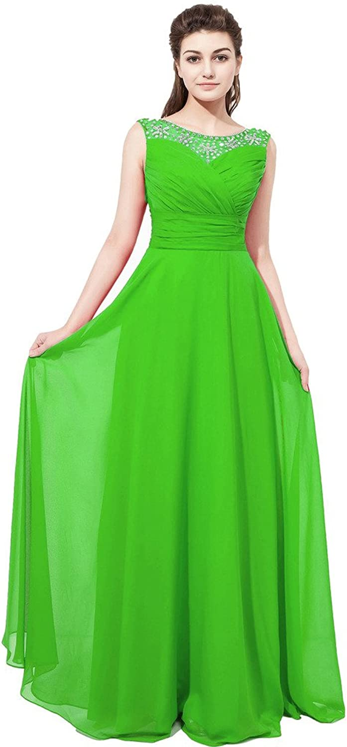 Heartfly Women's Long Prom Dresses Crystal Evening Gowns