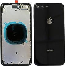 Back Housing Assembly Metal Frame w/Back Glass(OEM) - Camera Frame and Lens for iPhone 8 Plus (Black)