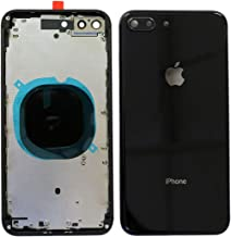 Back Housing Assembly Metal Frame w/Back Glass(OEM) - Camera Frame and Lens for iPhone 8 Plus (Black)