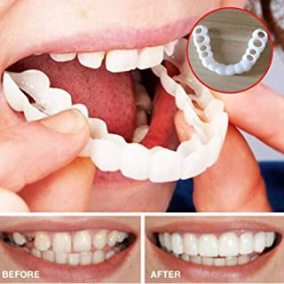 DKzyy Cosmetic Teeth 14 Pairs Teeth Whitening Fake Tooth Cover Snap on Silicone Perfect Smile Veneers Teeth Top and Bottom Beauty Tool