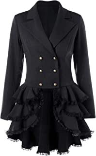 Women's Tuxedo Gothic Tailcoat Jacket Steampunk VTG Victorian Coat Wedding Uniform