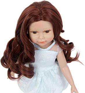 STfantasy Doll Wig for 18 Inches AG OG Doll Girls Gift Brown Long Curly Synthetic Hair