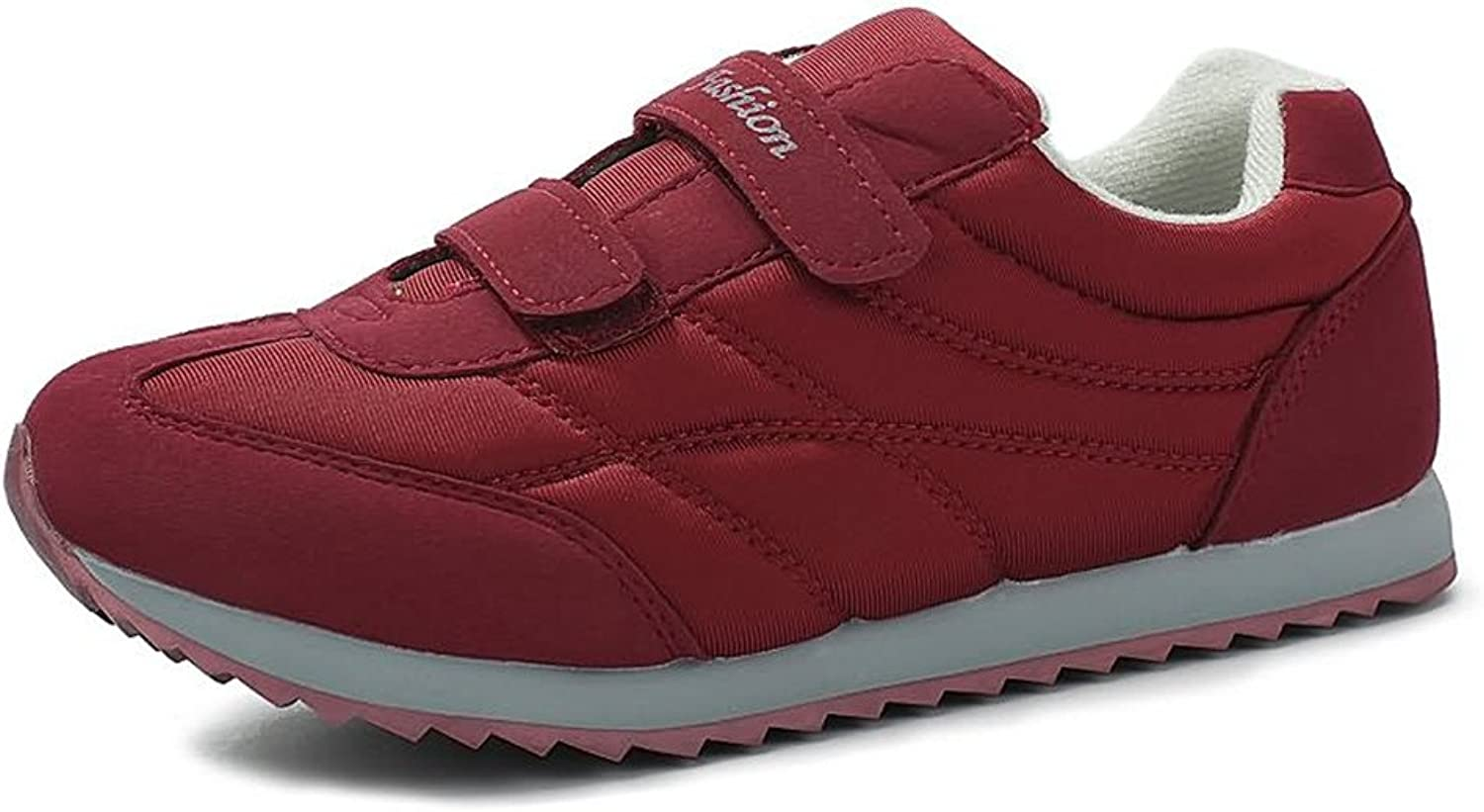 Battle Men Women & Men's Flat Heel Super Light Solid color Athletic shoes Fashion (color   Purplish red, Size   3.5 D(M) US Big Kid)