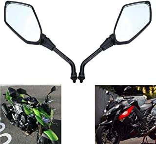 MZS Motorcycle Mirrors Rear View for Kawasaki Versys 650 KLE650 07-15/ KLZ1000 Versys 1000/ Z1000 03-15/ ER6B ER-6N 06-10/ KLE500/ Z750 04-11/ ZRX1100 99-00/ ZRX1200 01-08/ Zephyr 750 1100