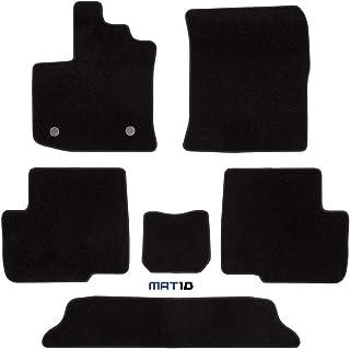 Alfombras tapices adecuado para Dacia Lodgy 7 plazas a partir de 2012 gris aguja fieltro 5tlg