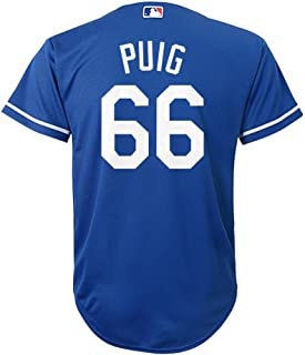 8bf4a8f4848 Majestic Athletic Yasiel Puig Los Angeles Dodgers Blue MLB Youth Alternate  Replica Cool Base Jersey