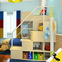 WYDM Accesorios de Cama para niños Cama Cama Alta y Baja Escalera escaleras barandilla Escalera Armario barandilla (Color : White)