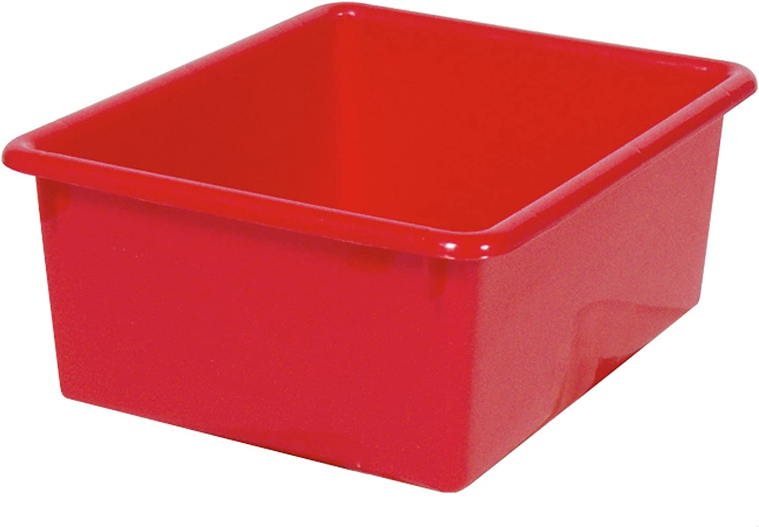 Steffy Wood Products Red Storage Tub, 5-Inch by 10-1 2-Inch by 13-Inch