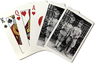 Two Moro Soldiers in the Philippines Photograph (Playing Card Deck - 52 Card Poker Size with Jokers)