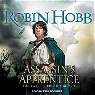 The Farseer: Assassin's Apprentice                   Auteur(s):                                                                                                                                 Robin Hobb                               Narrateur(s):                                                                                                                                 Paul Boehmer                      Durée: 17 h et 18 min     82 évaluations     Au global 4,4