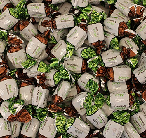 LaetaFood Arcor Chocolate Filled Mints, Premium Hard Candy Bulk (One Pound Pack)