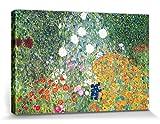 1art1 Gustav Klimt - Jardín De Flores, 1906-08 Cuadro, Lienzo Montado sobre Bastidor (120 x 80cm)