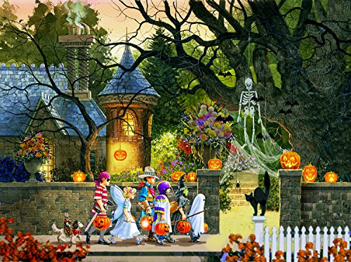 Friends on Halloween 1000 Piece Jigsaw Puzzle by SunsOut, Artist Doug Laird