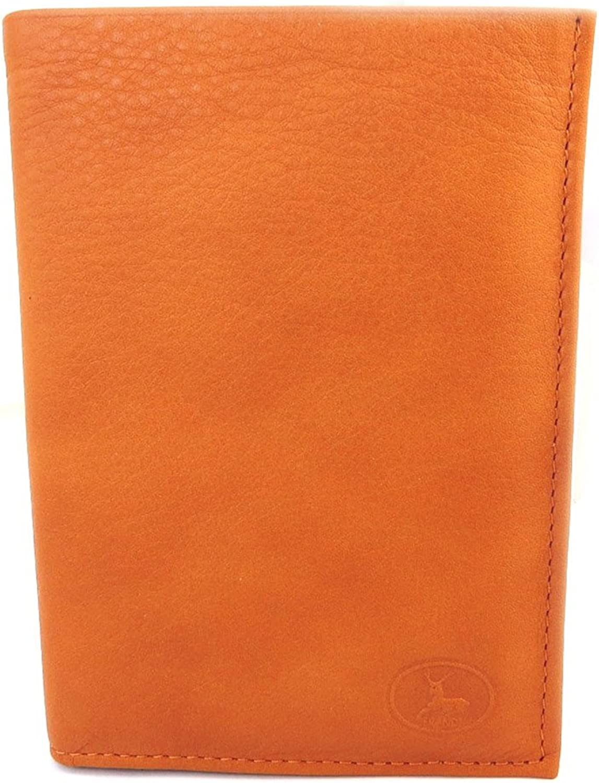Leather wallet 'Frandi' wild orange (european).