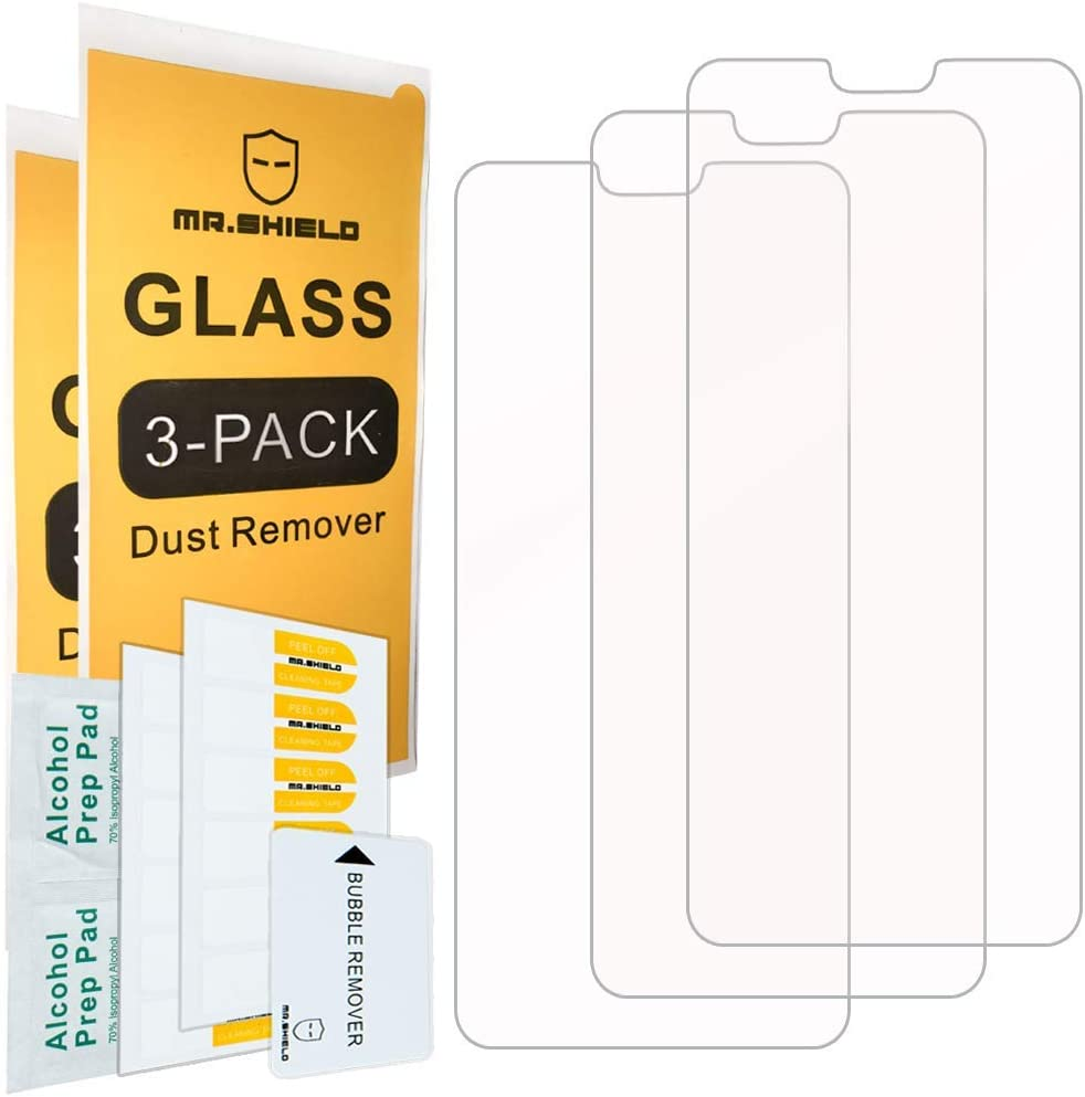 [3-PACK]-Mr.Shield Designed For Huawei Honor 8X [Tempered Glass] Screen Protector [Japan Glass With 9H Hardness] with Lifetime Replacement