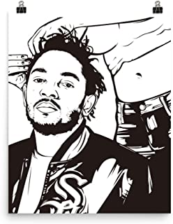 Babes & Gents Kendrick Lamar Hair (Rolling Stone) Poster (8x10 to 24x36) (12x16)