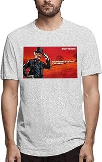 Kinggo Mens Customized Red Dead Redemption 2 Logo Short Sleeve Ironic T Shirt Black