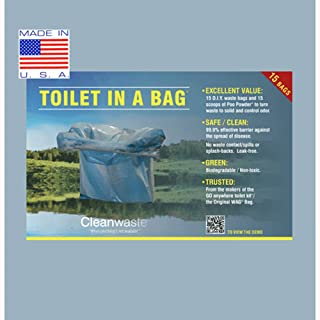 Cleanwaste Toilet in a Bag-15/Pack (D415W15)