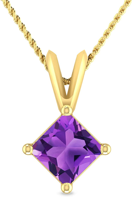 Inspereza Princess Shape Gemstone 10K Classic V-Bail Solita Gold Brand Cheap NEW Sale Venue