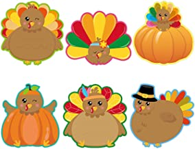 Cardboard Cutouts Hohomark 36 Pcs Thanksgiving Classroom Decorations Fall Pumpkin Maple Leaves Cut Outs For Bulletin Board School Autumn Theme Party Home Kitchen