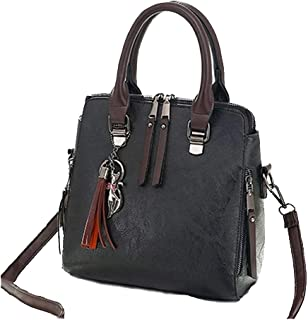 The Small Women Leather Satchel Small Cross Body Shoulder Top Handle Satchel by the Lovely Messenger Bag