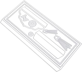 WINOMO Enveloppe Die Cut Set Carte De Voeux La Coupe des Métaux Meurt pour Enveloppe Gaufrage Pochoirs Papier Artisanat en...