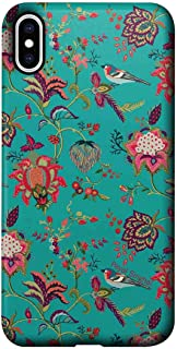 Macmerise IPCIXMPPS1518 Payal Singhal Chidiya Teal - Pro Case for iPhone XS Max - Multicolor (Pack of1)