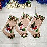 (Three-Piece) - Christmas on Articles Bags Calze di Natale Borse Regalo Stampate Tromba Fai da Te (Colore: No. 2 Vestito, Dimensioni: 26 * 12 * 17 cm) Peng (Color : No. 2 Suit)