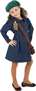 Boys Girls Child's 1940s Wartime WW2 WW1 Evacuee & Bag Fancy Dress Costume Outfit 4-12 Years (7-9 Years