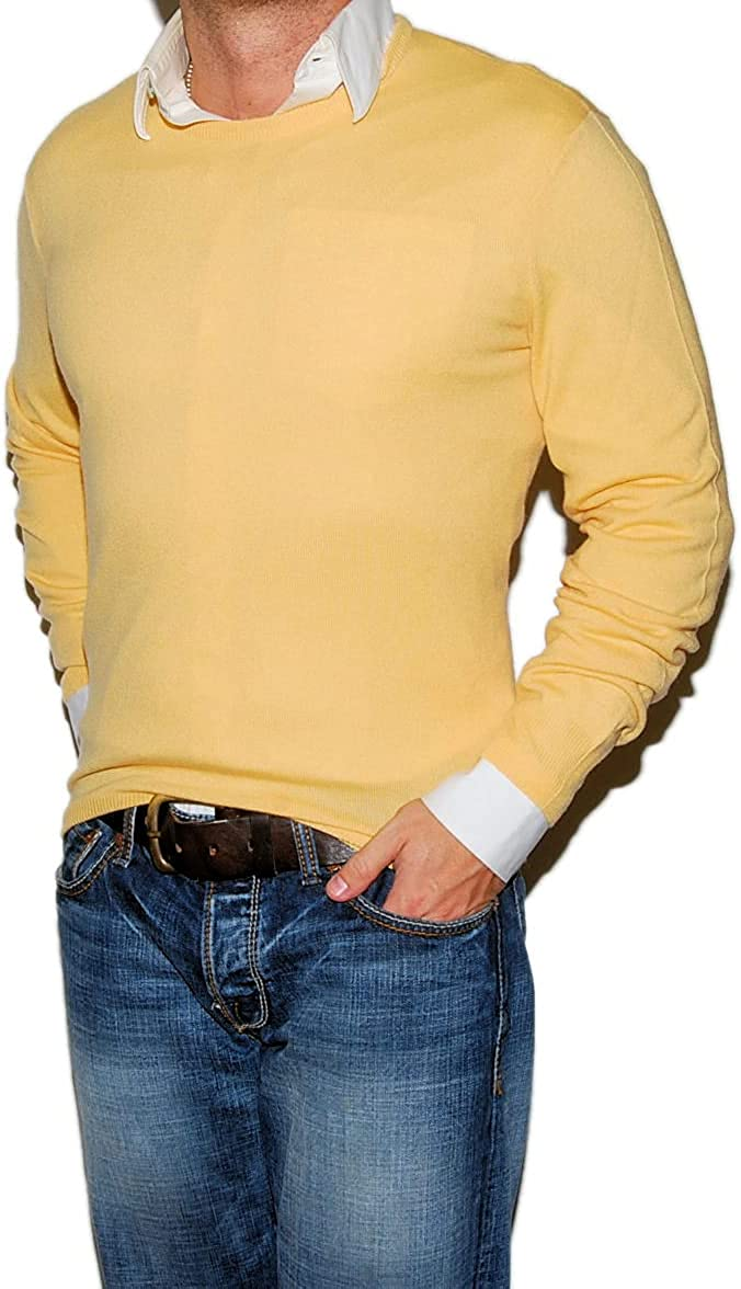 Ralph Lauren Polo Black Label Mens Cashmere Pullover Sweater Italy Yellow Small $698