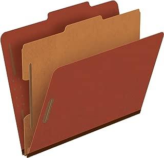 Pendaflex Pressboard Classification File Folders, 1 Divider, 2