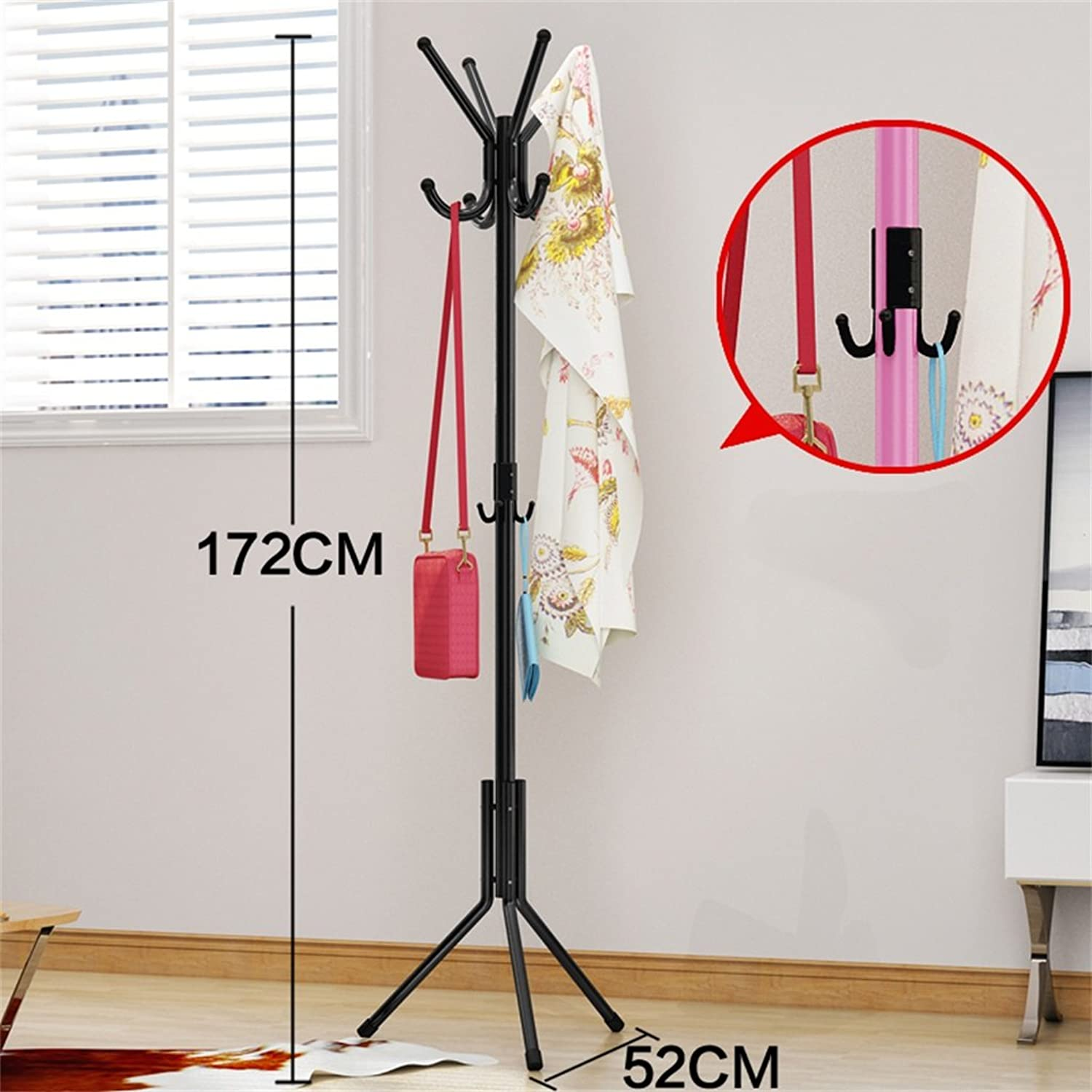 AIDELAI Coat Rack Coat Racks Bedroom Hangers Floor Fashion Creative Clothes Shelves Iron Anti-Rust (color    11)