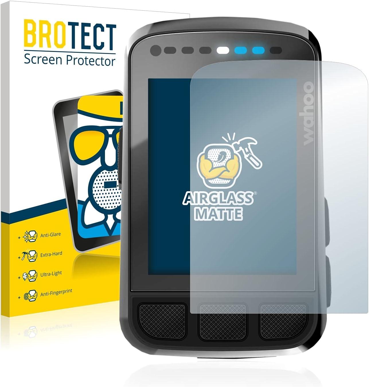 BROTECT Protector Pantalla Cristal Mate Compatible con Wahoo Elemnt Bolt V2 GPS Protector Pantalla Anti-Reflejos Vidrio, AirGlass